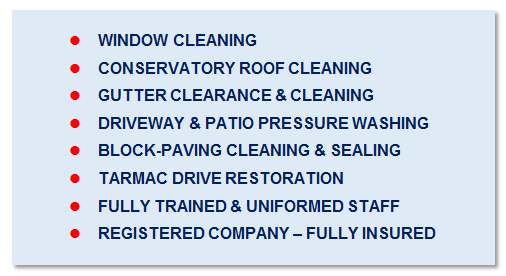 Cleaning services in Evesham