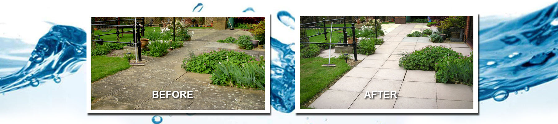 Pressure washing services in Worcestershire